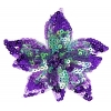 Motif Beaded with brooch Pin Flower Combo Purple